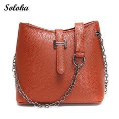 New Women Bucket Bag Pu Leather Luxury Bags Famous Designer Vintage Messenger Bag Large Shoulder Bag Simple Crossbody Bag