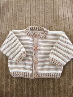 Crocheted baby boy sweater by PeggysCreations99 on Etsy