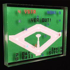 Yer Out! #baseball #intellivision #videogames #retro #vintage #television #tv #homerun #grandslam #desktop #sports #pitcher #catcher #mlb #arcade #out #ball #run #art #artwork #artworks #games