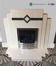 Newest Absolutely Free pottery art deco Concepts Art Deco Period Tiled + High Efficient kW Gas Fireplace Suite Reference: RTI Price: Cocina Art Deco, Casa Art Deco, Art Deco Kitchen, Art Deco Tiles, Plywood Furniture, Art Deco Furniture, Barbie Furniture, Furniture Legs, Garden Furniture