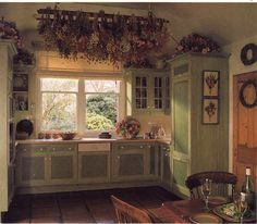 reminds me of a kitchen in Tasha Tudor drawings