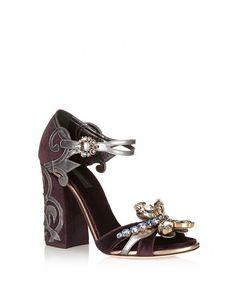 d1dbebfca1c Purple velvet high heel sandals Sale - DOLCE   GABANNA  Shoeshighheels