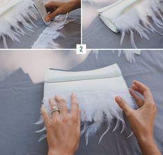 DIY: Feather Clutch