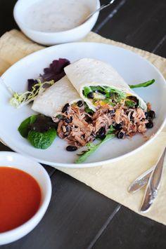 Buffalo Chicken and Black Bean Wrap from @Kristen Wogan Doyle