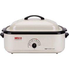 Electric Turkey Roaster Nesco White 22 Pound Turkey #NESCO