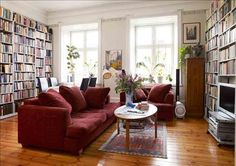 living room / library - my idea of cozy