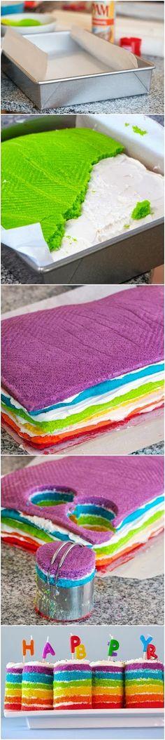 Photo Place: Teeny Tiny Rainbow Cakes