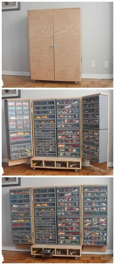 Lego sorting by colour just won't do ....but the cupboard is amazing!: