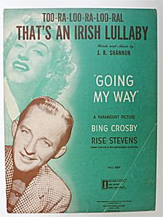 Sheet Music For 1944 That's An Irish Lullaby