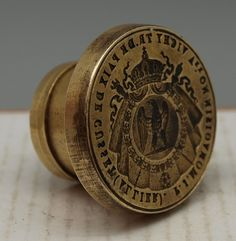 French Brass Notary Wax Seal for Vichy