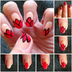 How to make tulips nail art step by step DIY tutorial instructions ♥ How to, how to make, step by step, picture tutorials, diy instructions, craft, do it yourself ❤