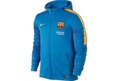 Get it from www.soccerpro.com today...Nike Barcelona GPX Full Zip Hoodie - Light Blue and Gold
