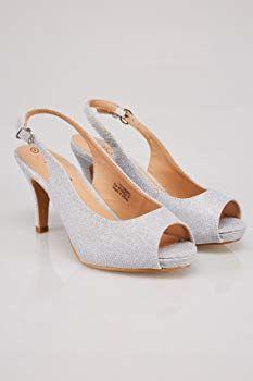 7c51192b8 Yours Clothing Wide Fit Women s Glittery Peep Toe Sling Back Heels In Eee  Fit Size 4EEE