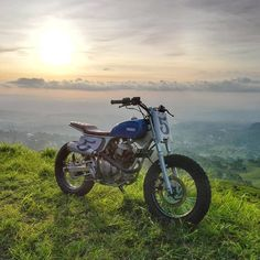 "From @gudangkustom - By @dennyanto_ "" SUNSHINE THERAPY "" #gudangkustom#gasolinedreams #nofilter #moto #motorcyclesofinstagram #supermoto #cool #enduro #photooftheday #honda #yamaha #suzuki #fashion #scrambler #motorcycle #forevertwowheels #instagood #custom #instamotorcycle #tracker #vintage #caferacer #streettracker #custombike #fun #bikelife #bratstyle #bespoke"