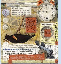 Lynda Barry collage Lynda Barry, Creative Inspiration, Journaling, Illustration Art, Scrapbooking, Collage, Ideas, Notebooks, Atelier