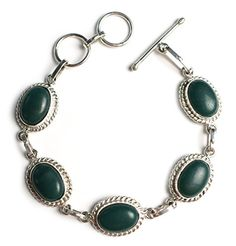 "Witch and Rich 10x14mm Green Agate Cabochon Gem Bracelet 7"" to 7 3/4"" Witch and Rich http://www.amazon.com/dp/B00M2I1VCE/ref=cm_sw_r_pi_dp_31.jvb0KNN0Q9"