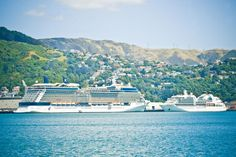 Two cruise ships in Wellington harbour 1148x765