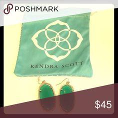 Jade Kendra Scott Danielle earrings Beautiful Jade/Kelly Green Kendra Scott Danielle earrings in great condition with bag. Kendra Scott Jewelry Earrings