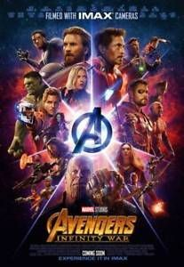 Marvel Drawing Avengers Infinity War Movie Poster Imax Print Size