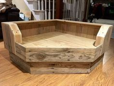 Handcrafted Corner Dog Bed / Upcycled Wood Dog Bed by Pallets4Paws