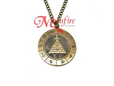 GRAVITY FALLS Bill Cipher Zodiac Pendant Necklace