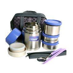Vacuum stainless steel Thermos lnsulted flasks Thermal Container Food Jar set #kitchenart