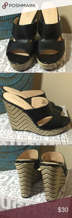 "NINE WEST WEDGE SLIP ONS 9M I love the style and look of these 5"" wedges.  Unfortunately I haven't been able to wear them as planned after my ankle surgery. My loss, your gain. #JEWELRY #POSHMARK #FASHION #DIVA #STYLE  #BLING #FASHIONISTA #COWGIRL #CITYGIRL #BEACHGIRL #WESTERN #CHIC #FAITH #RUNWAY #CROSS #TRIBAL #BOHO #PRETTY #DESIGNERINSPIRATION #SPARKLE #SHINE #SPARKLEANDSHINE #CHIC ❤️🛍🌈🦄💄💋 #NINEWEST Shoes Wedges"