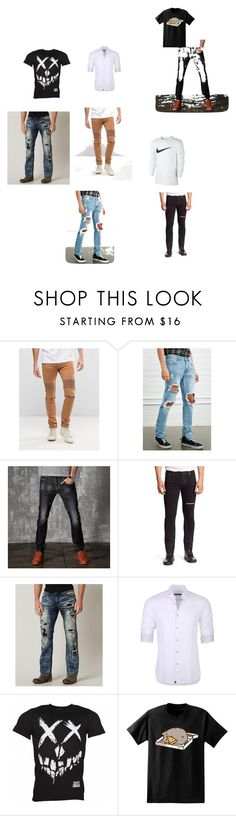"""men"" by fatimazbanic ❤ liked on Polyvore featuring Sixth June, Forever 21, Yves Saint Laurent, Affliction, Stone Rose, Pusheen and NIKE"