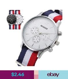fc583974db32 Wristwatches Mens Luxury Fashion Canvas Alloy Analog Quartz Watch Wrist  Watches Dress Watches  ebay  Fashion