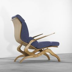 A biomorphic lounge chair by Franco Campo and Carlo Graffi