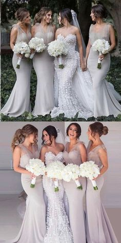 Grey Bridesmaids, Mermaid Bridesmaid Dresses, Beautiful Bridesmaid Dresses, Lilac Bridesmaid, Bridesmaid Outfit, Dresses Elegant, Long Dresses, Perfect Wedding Dress, Elegant Wedding