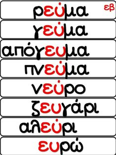 Greek Language, Speech And Language, Learn Greek, Kids Corner, School Hacks, How To Stay Motivated, Primary School, Special Education, Grammar