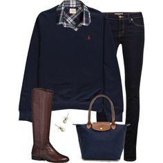 A fashion look from October 2014 featuring J.Crew tops, J Brand jeans and Jack Rogers boots. Browse and shop related looks.