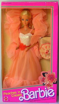 Peaches 'n Cream Barbie. One of my first Barbies - I still have the dress somewhere in a box. It was nice, peachy, and fluffy.