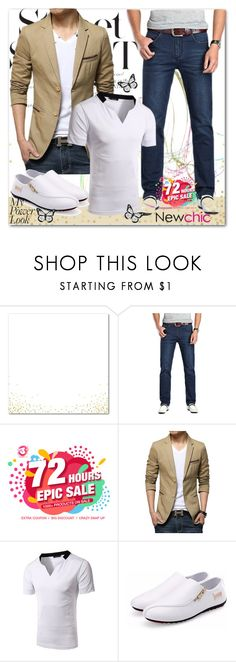 """Newchic Anniversary SALE"" by mellie-m ❤ liked on Polyvore featuring men's fashion and menswear"