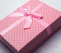 Pink Polka Dot Gift Boxes from Paradise Creative Crafts for R32/12 boxes.