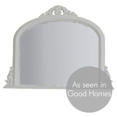 Classic Overmantle Mirror - White