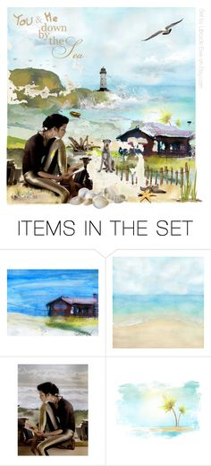 """""""Down by the sea"""" by onenakedewe ❤ liked on Polyvore featuring art, MemberSpotlight, artsdesirable and etsyevolution"""
