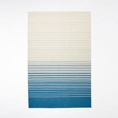 Ombre Stripe Cotton Dhurrie Rug - Big Sky #westelm