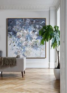 Abstract Flower Oil Painting #LX38A