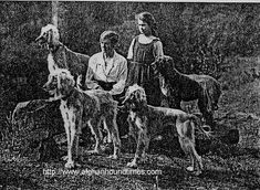 Afghan Hound Times photo Jean Manson and Afghan Bell Murray Hounds