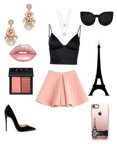 """""""Pretty in pink"""" by mvictorio on Polyvore featuring Marina Hoermanseder, T By Alexander Wang, Christian Louboutin, Lime Crime, NARS Cosmetics, Delalle, Casetify and Michael Kors"""