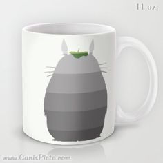 Ombre Totoro Silhouette My Neighbor 11 / 15 oz Mug by CanisPicta, $22.00