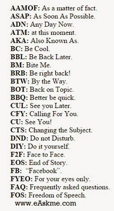 Abbreviations for Chatting Texting : eAskme English Vocabulary Words, Learn English Words, English Phrases, English Grammar, Writing Words, Writing A Book, Writing Tips, Writing Lessons, Sms Language