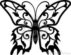 Illustration about Abstract fantasy butterfly tattoo (Vector). Butterfly Template, Butterfly Art, Butterflies, Butterfly Stencil, Butterfly Design, Kirigami, Stencils, Stencil Patterns, Adult Coloring Pages