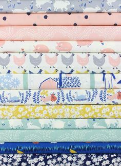Emily Isabella for Birch Organic Fabrics, Homestead in FAT QUARTERS 12 Total