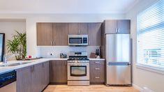 Microwave Cabinet, Apartment Kitchen, Kitchen Organization, Home Remodeling, Kitchen Design, Kitchen Cabinets, Home Decor, Condo Kitchen, Decoration Home