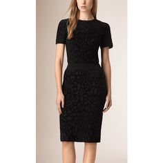 Burberry Animal Jacquard Stretch Bodycon Dress ($1,490) ❤ liked on Polyvore featuring dresses, stretch dress, pattern bodycon dress, stretchy dresses, print dress and body conscious dress