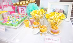 Image result for baby shower themes yellow,white and mint