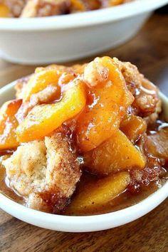 Fresh Peach Cobbler Great Fall Recipe!